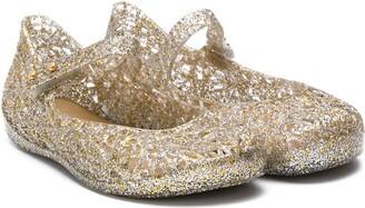 Mini Melissa Glittered Ballerina Shoes