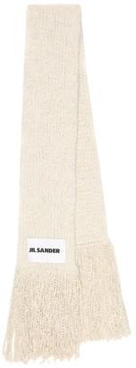 Jil Sander Alpaca and wool scarf