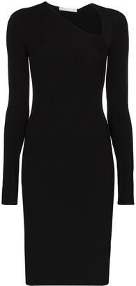 Helmut Lang asymmetric midi dress