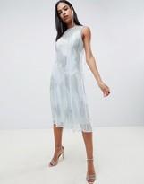 Asos Design DESIGN midi dress with delicate tassle embellishment