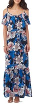 ECI Women's Cold Shoulder Maxi Dress