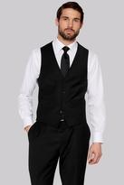 Moss Esq. Performance Regular Fit Black Waistcoats