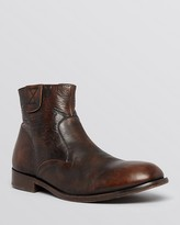 H By Hudson Haxton Leather Side Zip Boots