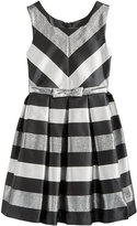 Bonnie Jean Metallic-Stripe Party Dress, Big Girls Plus (8-20)