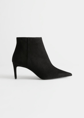 And other stories Pointed Stiletto Suede Ankle Boots