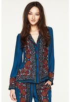 Lucky Brand Paisley Pajama Jacket*