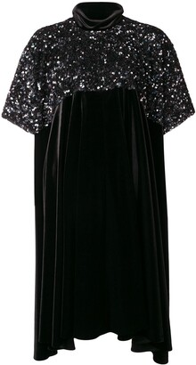 Talbot Runhof Asymmetric Hem Sequined Dress