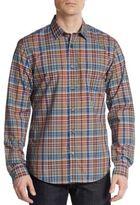 Vince Multi-Plaid Cotton Sportshirt