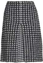 Sonia Rykiel Gingham Cotton-Blend Knitted Skirt