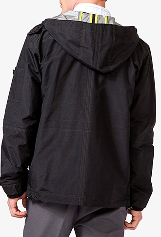 Forever 21 Ripstop Hooded Parka
