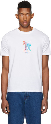 Paul Smith White Zebra Made T-Shirt