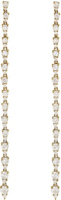 Jacquie Aiche Graduated Amber Diamond Drop Earrings - Yellow Gold
