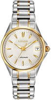 Citizen Women's Automatic Grand Classic Eco-Drive Diamond Accent Two-Tone Stainless Steel Bracelet Watch 33mm PA0004-53A