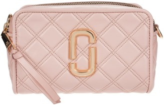 Marc Jacobs Quilted Logo Plaque Camera Bag
