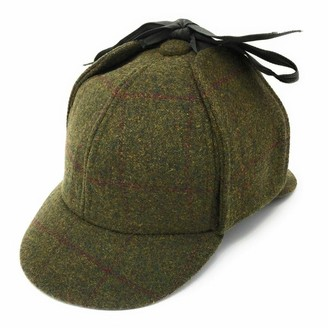 Cotswold Country Hats Tweed Deerstalker Sherlock Wool Hat - Fully Lined Lovely Quality (Large - 59cm