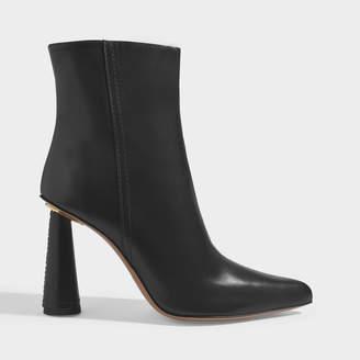 Jacquemus Les Bottes Toula Ankle Boots In Black Leather
