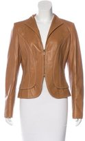 Valentino Leather Structured Jacket