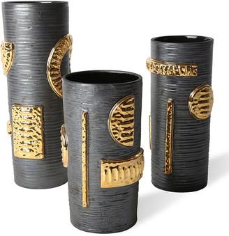 Jonathan Adler Osaka Gold Luster Cylinder Vase - Small