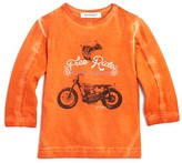 3 Pommes Infant Boys' Acid Washed Free Ride Biker Tee - Sizes 3-24 Months
