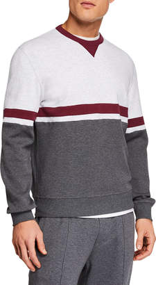 Brunello Cucinelli Men's Spa Colorblocked Sweater
