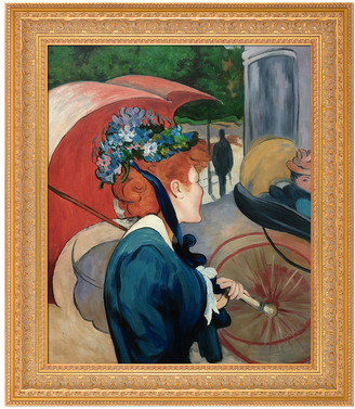 Overstock Art Overstockart Woman With Umbrella, 1891 By Louis Anquetin