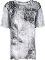 Aviu sequin photo print T-shirt - women - Polyamide/Polyester/Viscose - 44