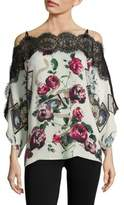 Roberto Cavalli Silk Cold-Shoulder Blouse