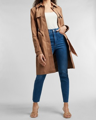 Express Button Front Trench Coat