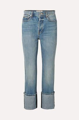 Proenza Schouler Pswl High-rise Straight-leg Jeans - Light blue