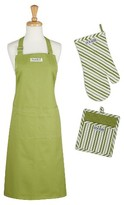 Design Imports Parsley Chef Gift Set Includes Apron Potholder Oven Mitt