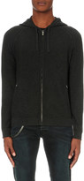The Kooples Leather-piped knitted cardigan