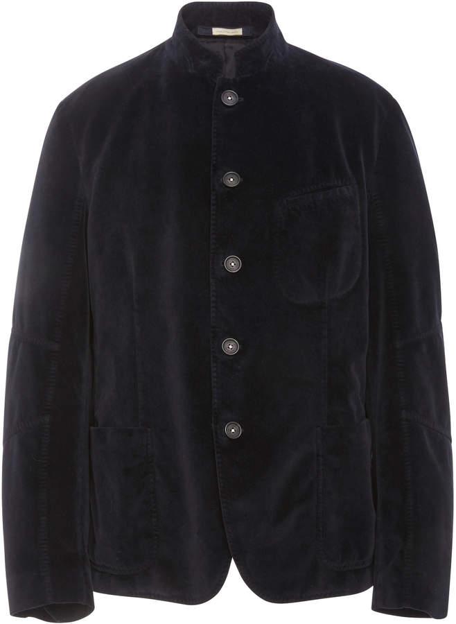Massimo Alba Stand Collar Velvet Sports Jacket