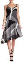Laundry by Shelli Segal Asymmetrical Printed Sleeveless Dress