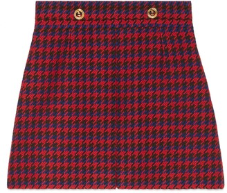 Gucci Houndstooth wool skirt