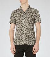 Reiss Hiro Printed Cotton Shirt