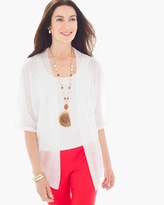 Chico's Tamara Cardigan in Wimbeldon White