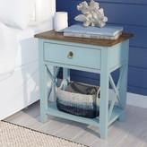 Beachcrest Home Landau 1 Drawer Nightstand Color: Aqua