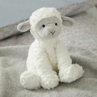 The White Company Jellycat Fuddlewuddle Lamb Toy, White Grey, One Size