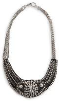 MANGO Rhinestone Bib Necklace