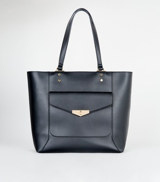 New Look Leather-Look Pocket Front Tote Bag