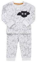 F&F Bat Print Twosie Halloween Pyjamas, Newborn Boy's