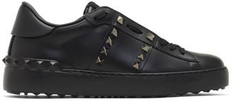 Valentino Black Garavani Rockstud Untitled Sneakers