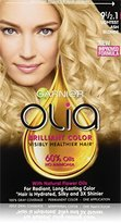 Garnier Olia Oil Powered Permanent Hair Color, 9 1/2.1 Light Ash Blonde (Packaging May Vary)