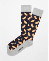 Express cushioned melon dress socks