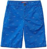 Arizona Shark Print Chino Shorts - Boys 8-20, Slim