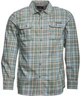 Converse Mens Cargo Pocket Checked Long Sleeve Shirt Baltic Multi