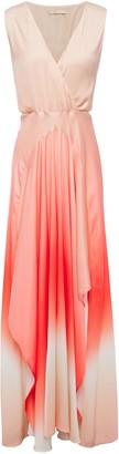 Maje Resia Cutout Degrade Pleated Maxi Dress