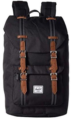Herschel Little America Mid-Volume (Black/Black/Tan) Backpack Bags