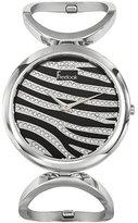 Freelook Women's HA8253-7 Linea Tempo Stainless Steel Swarovski Zebra Dial Watch