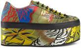 Gucci Tiger jacquard platform sneaker